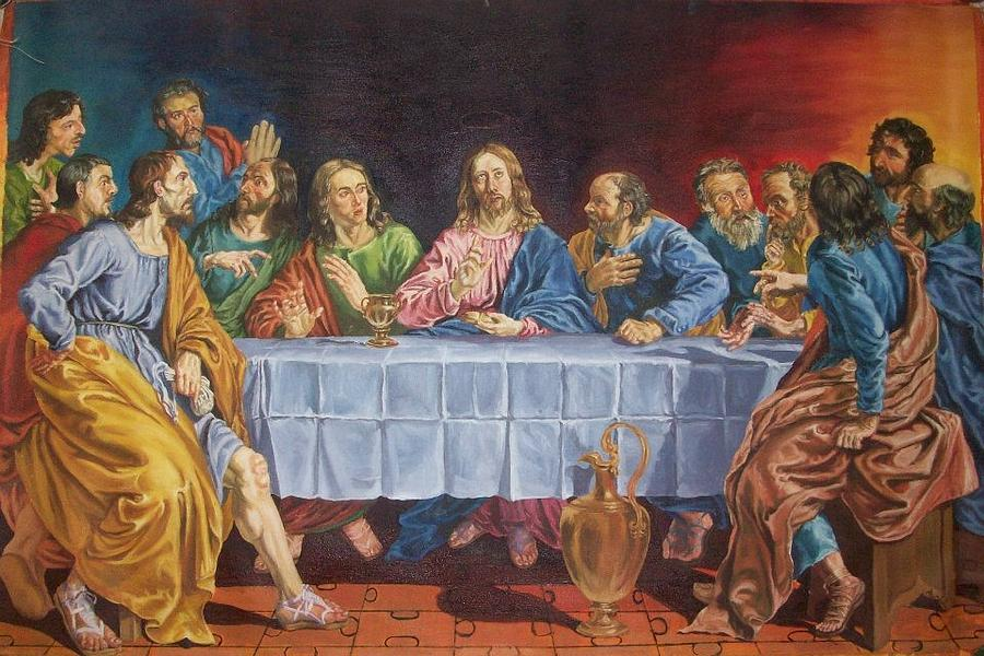 The Last Supper Copied From Lois De Silvestre Painting