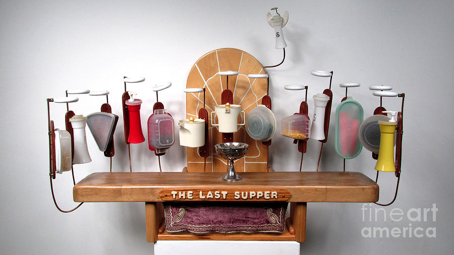 The Last Supper With Tupperwear Sculpture