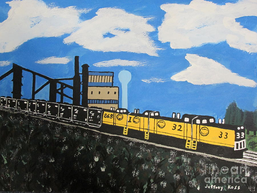 The Last Train Painting  - The Last Train Fine Art Print