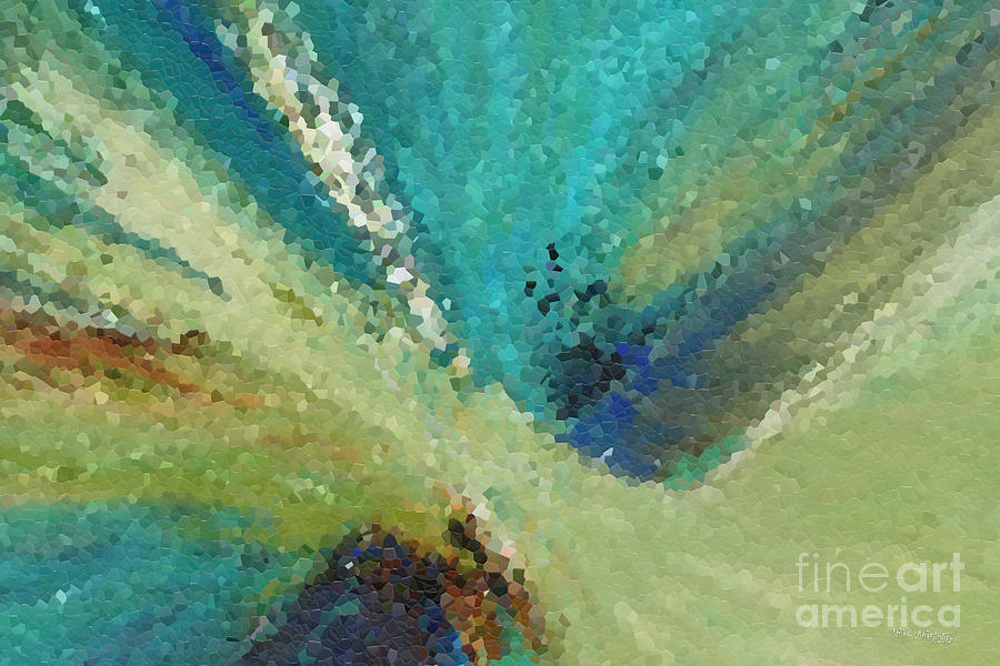 Abstract Painting - The Law Of Opposition. Revelation 2 7 by Mark Lawrence