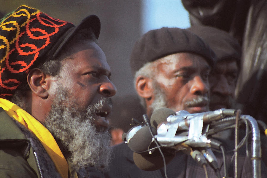 The Leaders Of A Local Antyracist Movement While Performing Their Speach During Toronto Riots 1992 Photograph  - The Leaders Of A Local Antyracist Movement While Performing Their Speach During Toronto Riots 1992 Fine Art Print