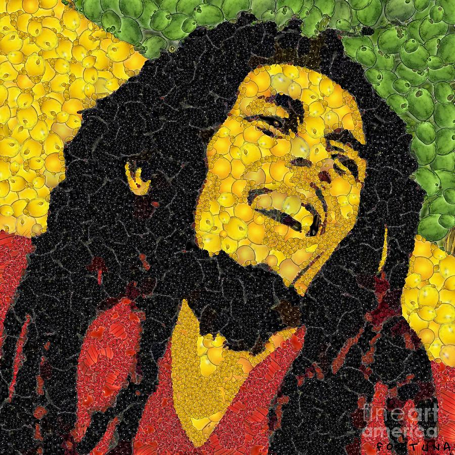 The Legend - Bob Marley Digital Art  - The Legend - Bob Marley Fine Art Print