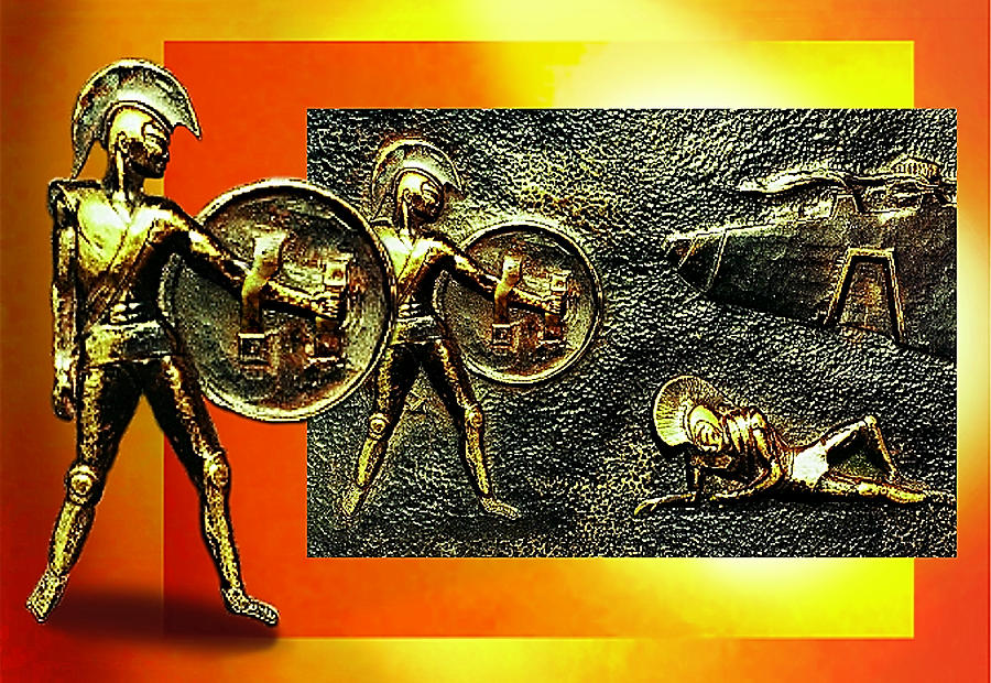 The Legends Of Troy Relief  - The Legends Of Troy Fine Art Print