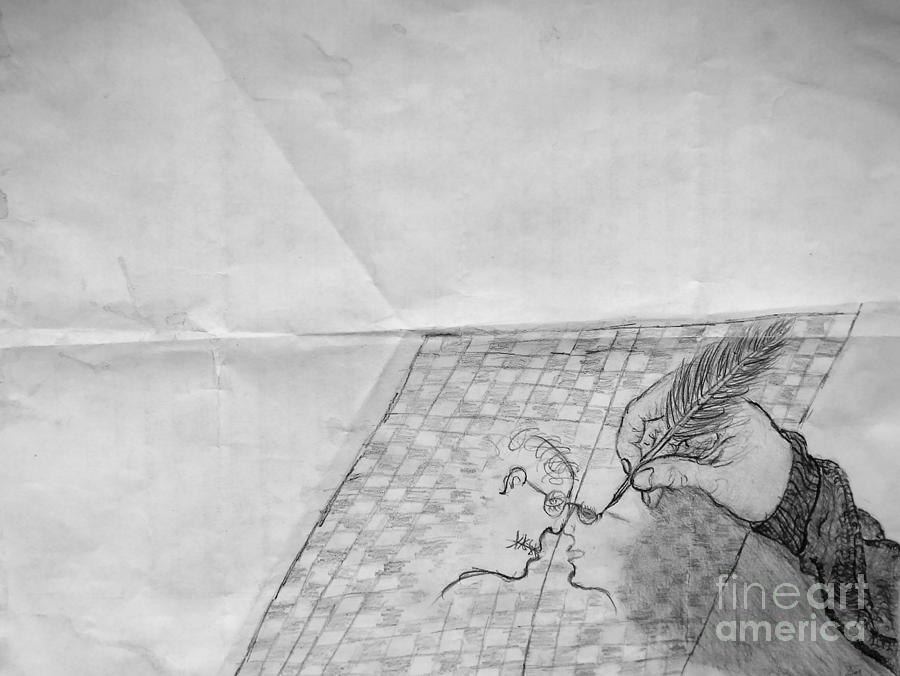 The Letter Drawing  - The Letter Fine Art Print