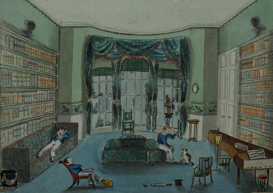 The Library, C.1820, Battersea Rise Painting