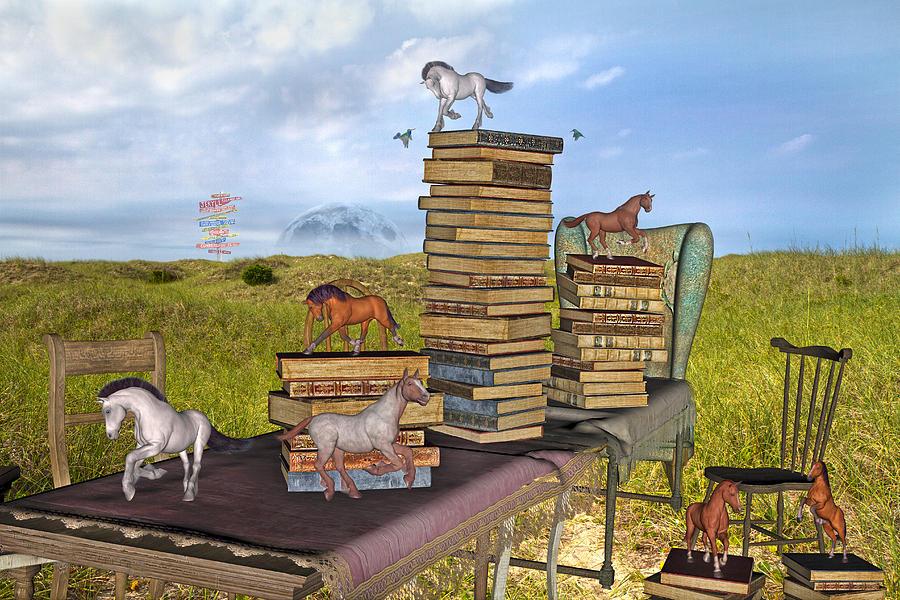 Library Mixed Media - The Library Your Local Treasure by Betsy C Knapp