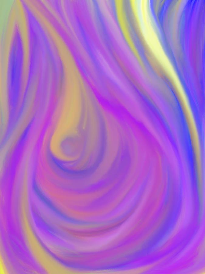 Daina Painting - The Light Of The Feminine Ray by Daina White