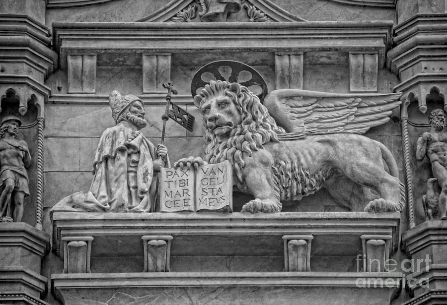 The Lion Of Saint Mark Photograph  - The Lion Of Saint Mark Fine Art Print