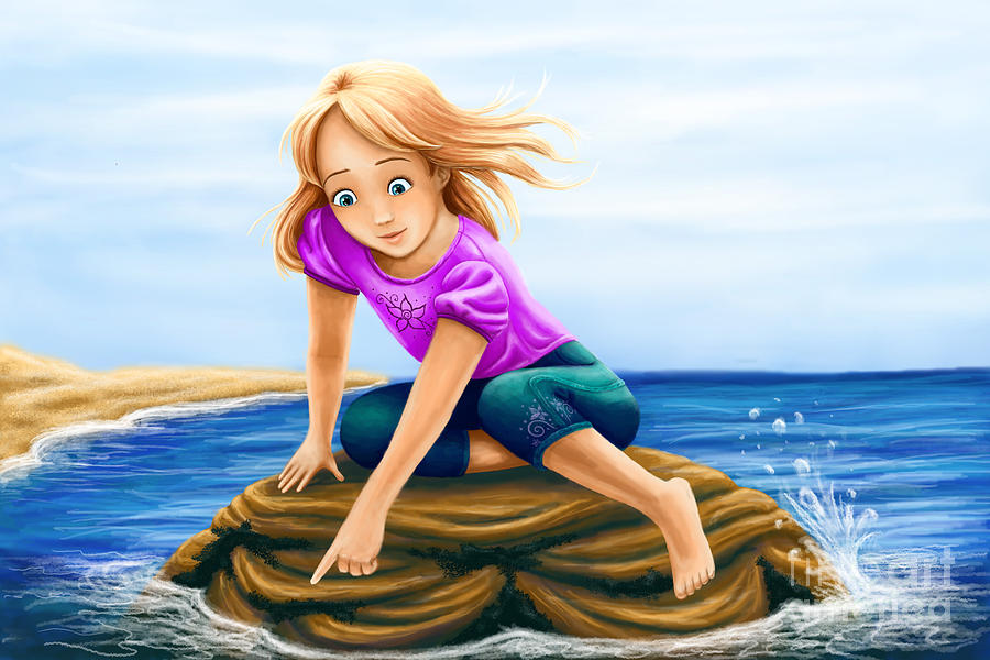 The Little Mermaid Digital Art by Kendra Tharaldsen-Franklin
