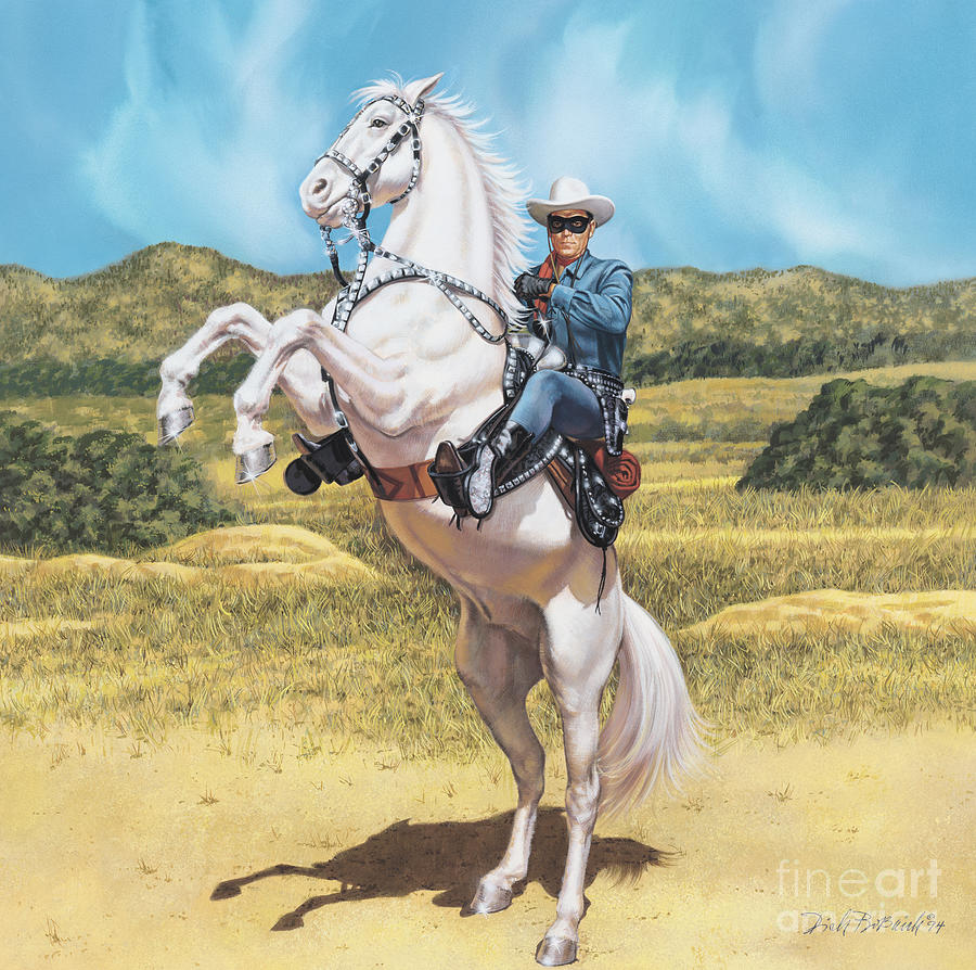 Portrait Painting - The Lone Ranger by Dick Bobnick