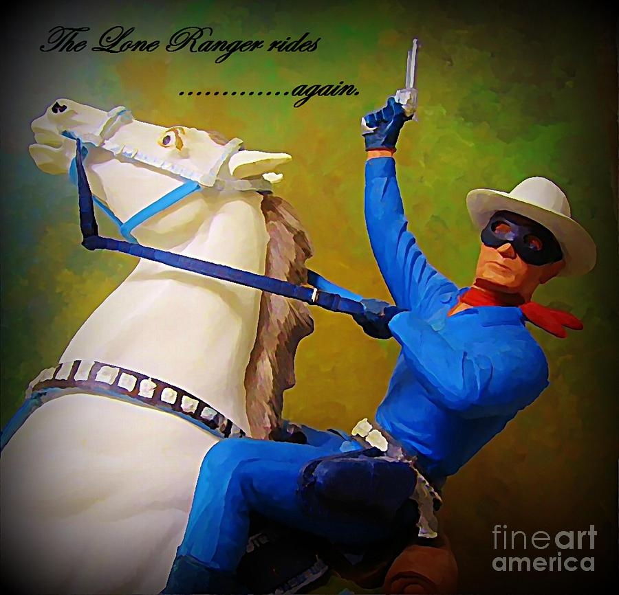 The Lone Ranger Rides Again Painting