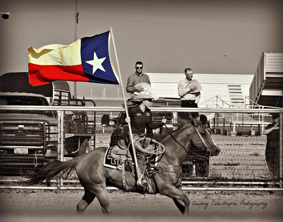 Cowboy Photograph - The Lone Star State by Lindsay Milloy