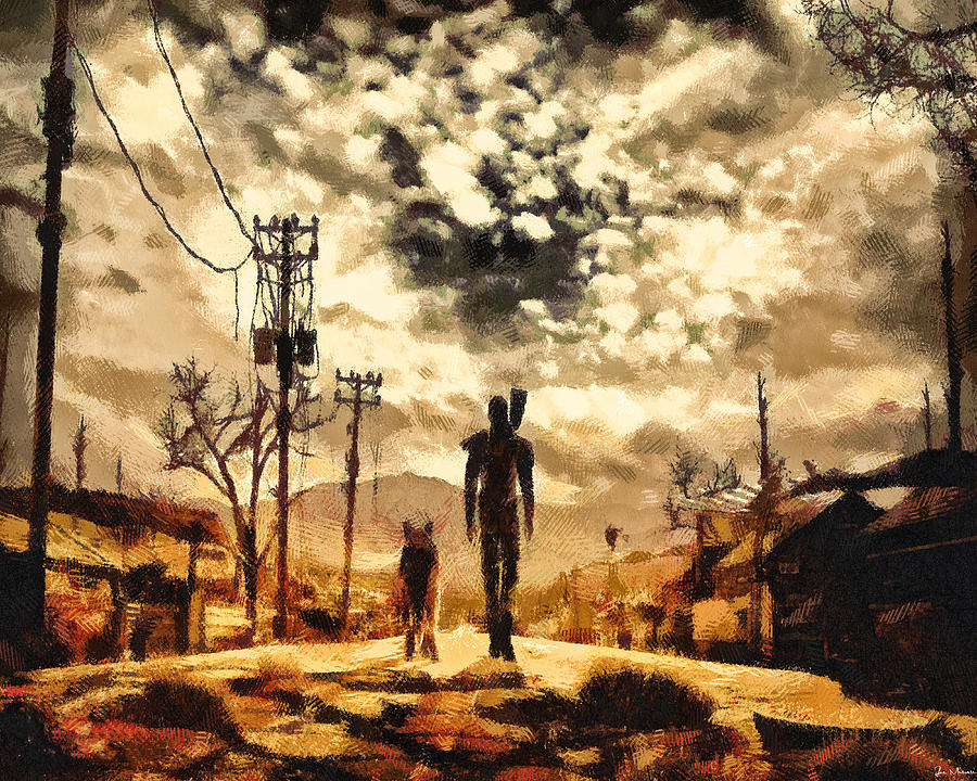 The lone wanderer painting by joe misrasi for Fallout 4 canvas painting