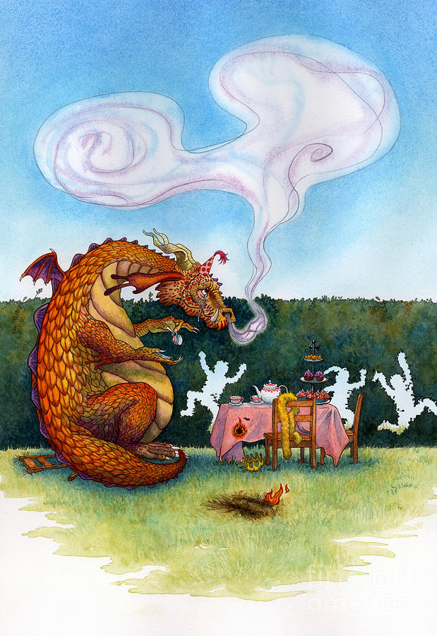 The Lonely Dragon Painting  - The Lonely Dragon Fine Art Print