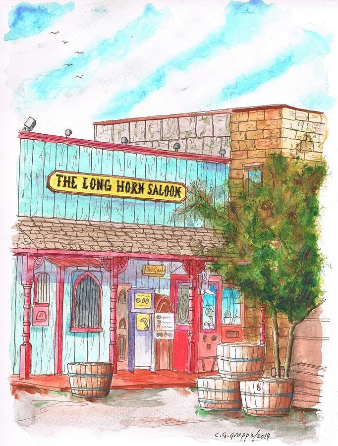 The Long Horn Saloon In Route 66, Williams, Arizona Painting