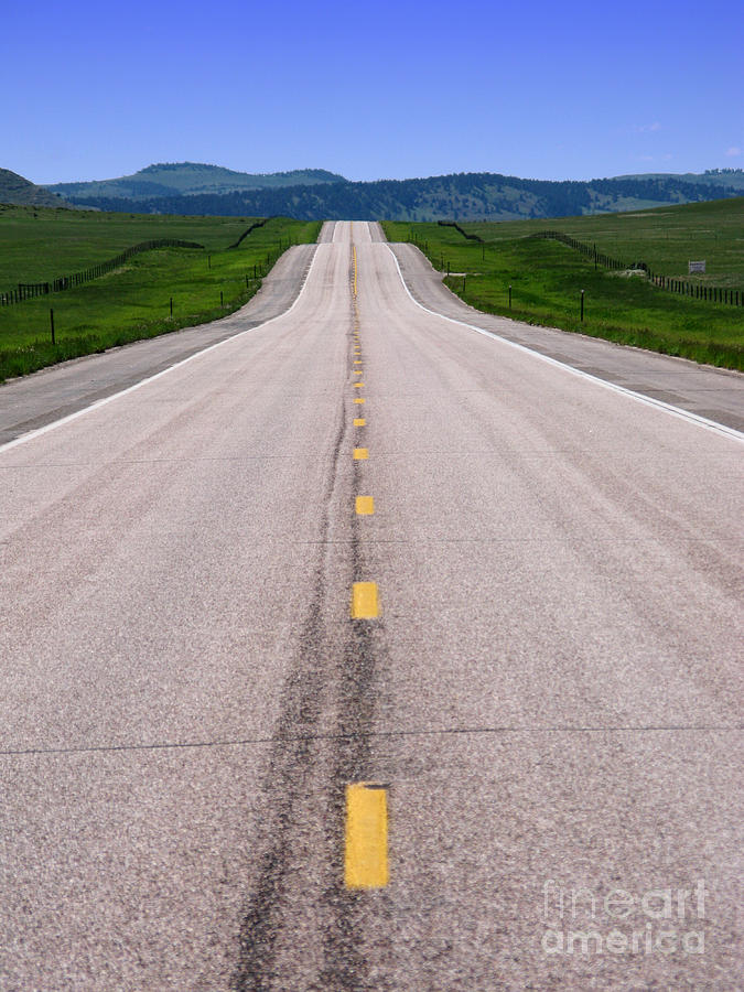 Road Photograph - The Long Road Ahead by Olivier Le Queinec