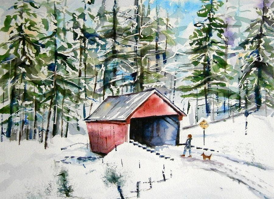 Winter Painting - The Long Way Home by Brian Degnon