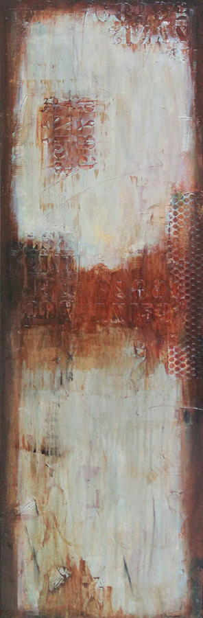 Abstract In Blue Painting - The Lost Panel #2 by Lauren Petit