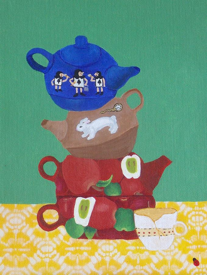 The Mad Hatter Tea Party Present Day  Painting
