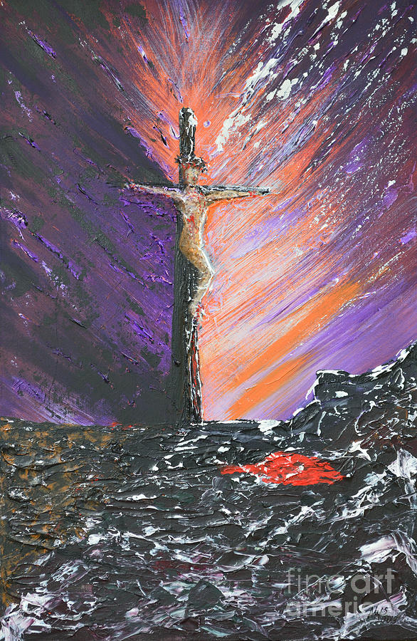 The Man On The Cross Painting  - The Man On The Cross Fine Art Print