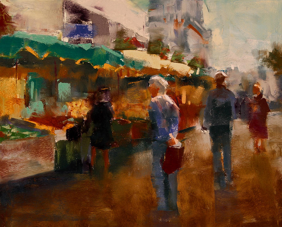 The Market Painting  - The Market Fine Art Print