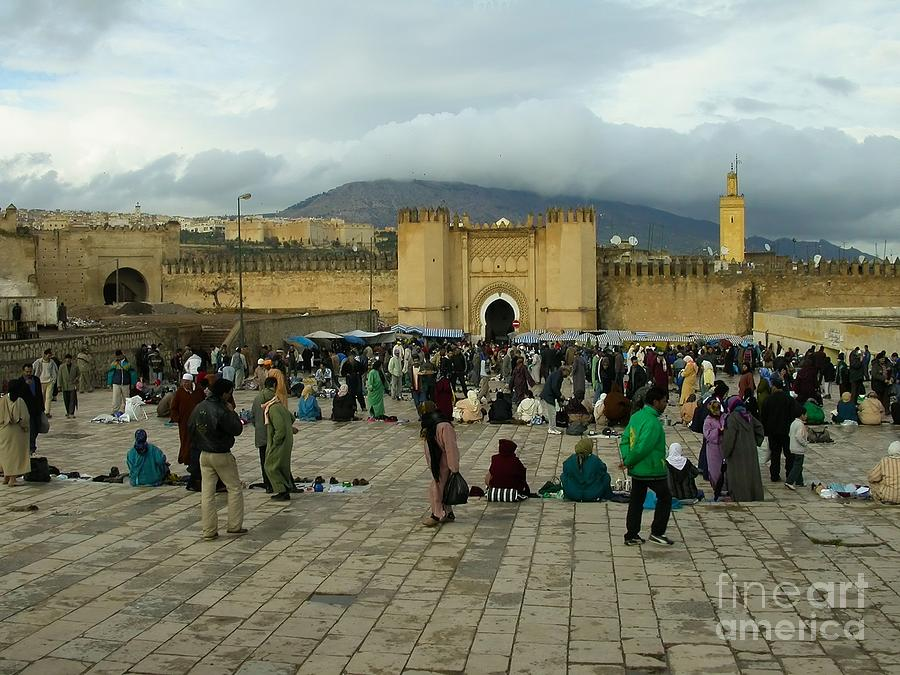 The Market In Fez Photograph