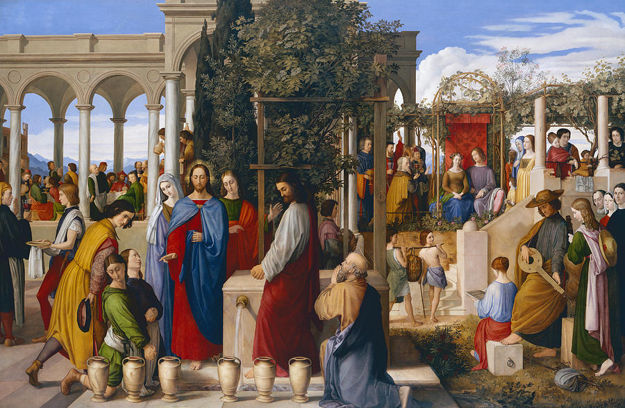 The Marriage At Cana Painting  - The Marriage At Cana Fine Art Print