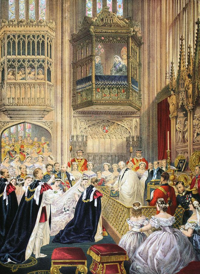 The Marriage At St Georges Chapel Drawing