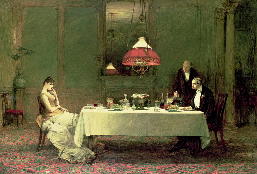 The Marriage Of Convenience, 1883 Painting