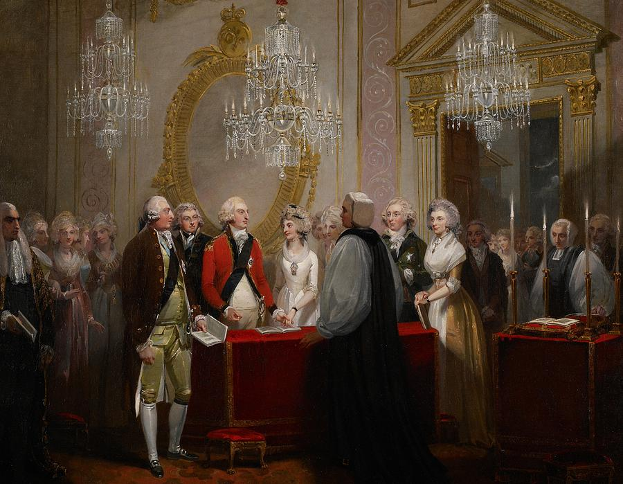 The Marriage Of The Duke And Duchess Of York Painting