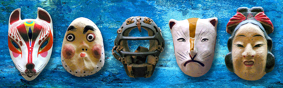 Mask Photograph - The Mask Collection by Ron Regalado
