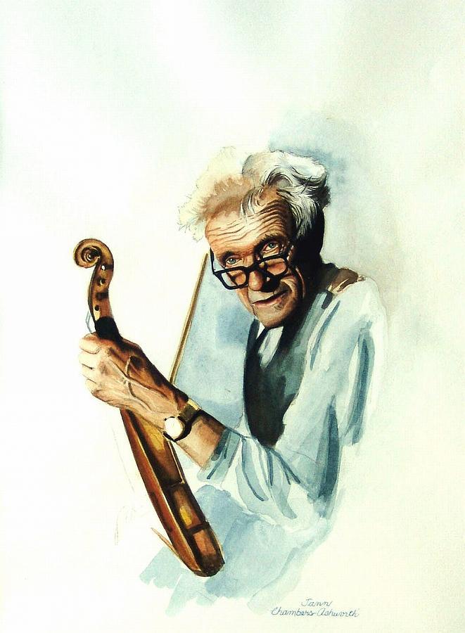 The Master And His Violin Mixed Media