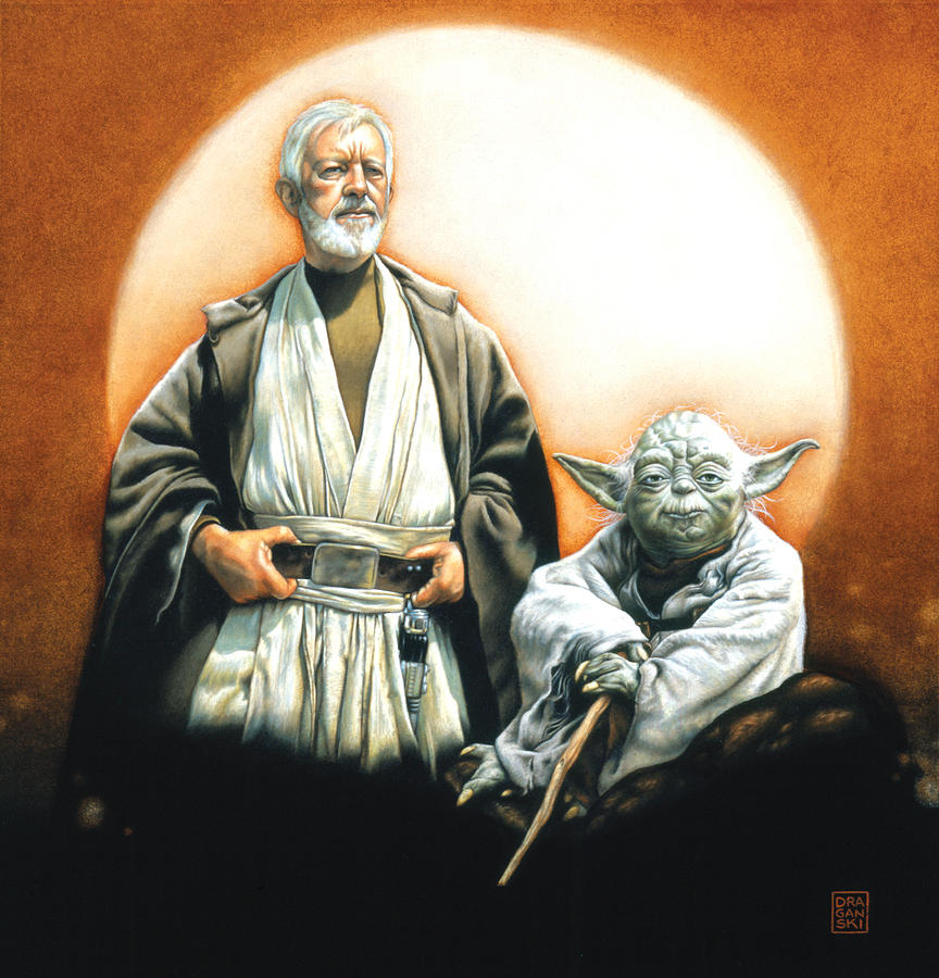 Star Wars Drawing - The Masters by Edward Draganski
