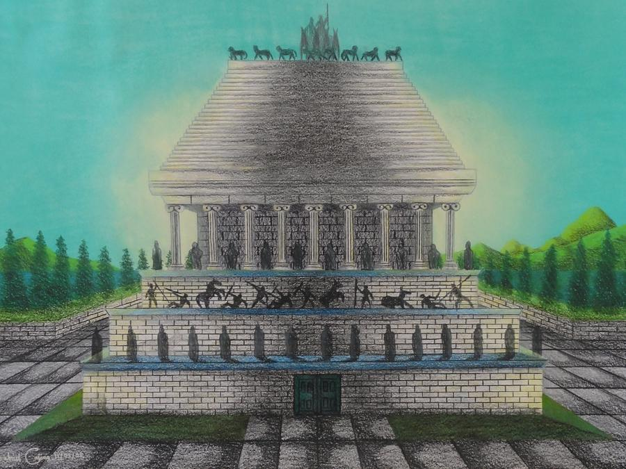 The Mausoleum Of Halicarnassus Mixed Media by Gabriel Cajina