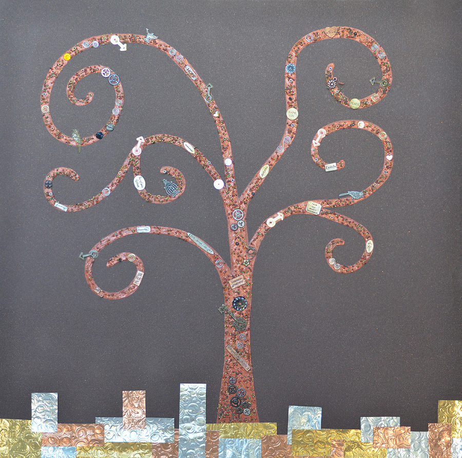 The Menoa Tree Painting by Angelina Vick