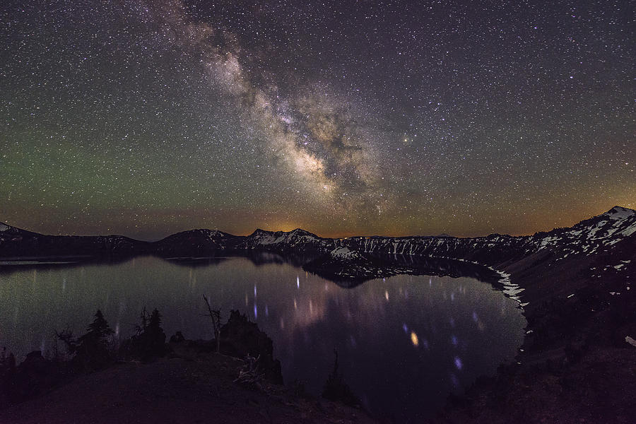 The Milky Way At Crater Lake Photograph By Hisao Mogi