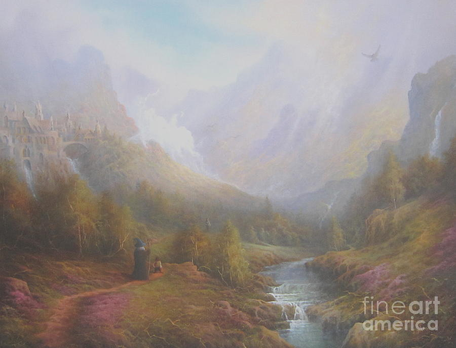The Misty Mountains Painting