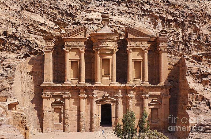 The Monastery At Petra In Jordan Photograph  - The Monastery At Petra In Jordan Fine Art Print