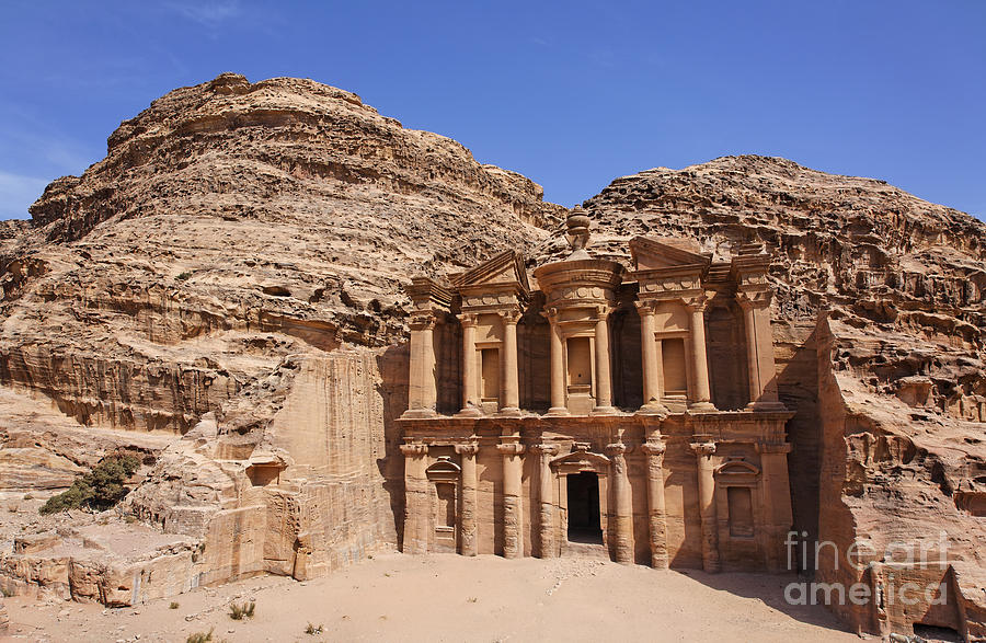 The Monastery At Petra Photograph