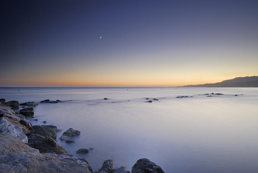 the Moon over the sea Photograph