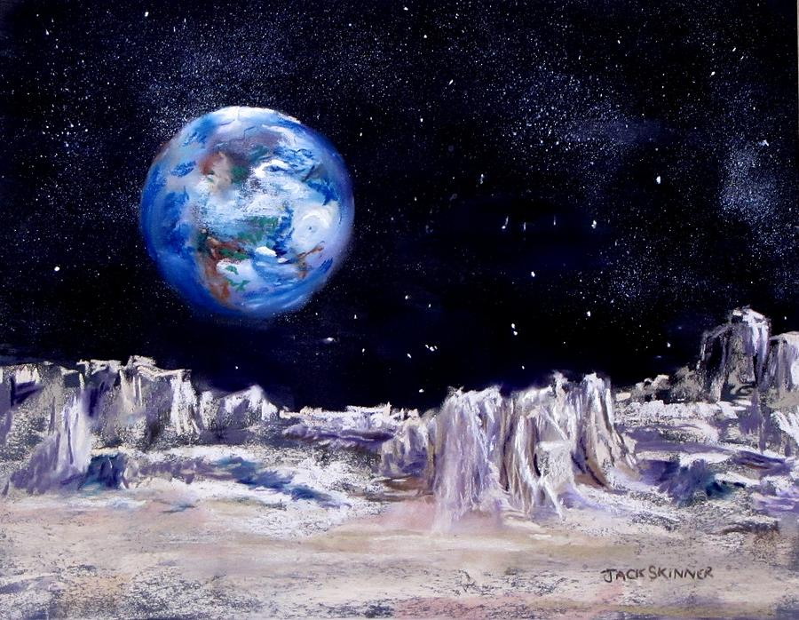 The Moon Rocks Painting