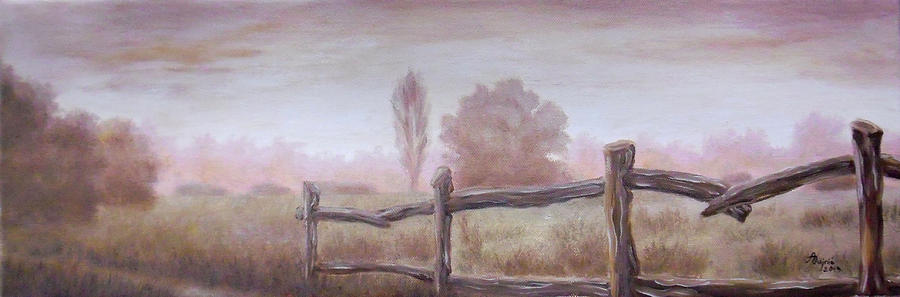 The Morning Mist Painting