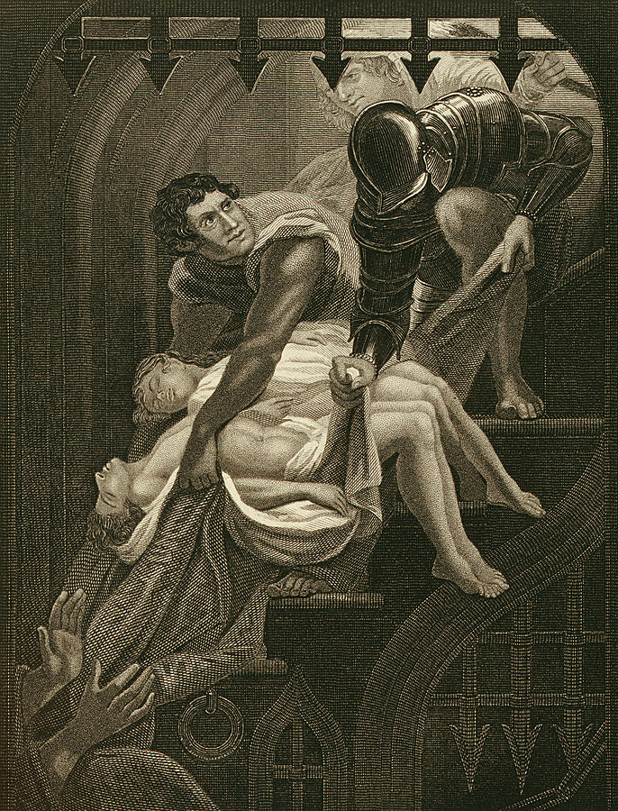 The Murder Of The Two Princes Drawing