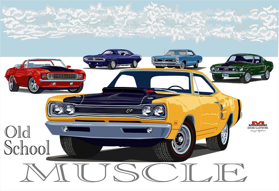 The Muscle Digital Art  - The Muscle Fine Art Print