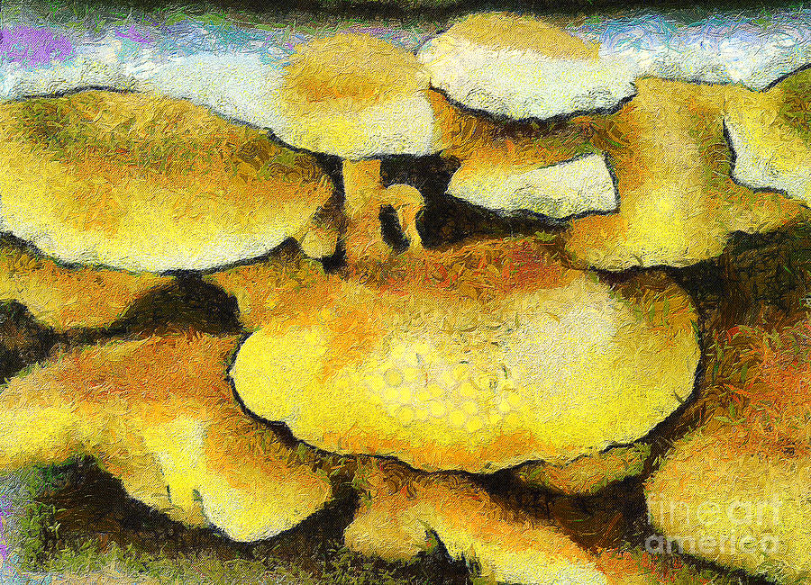 The Mushroom Family Painting