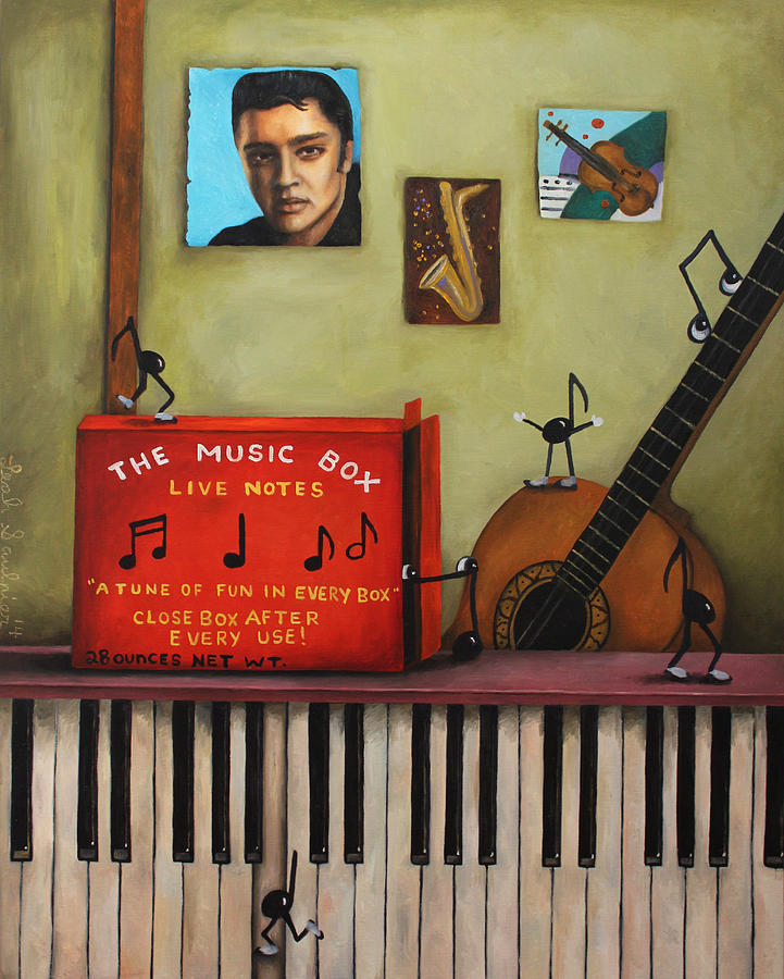 Music Painting - The Music Box by Leah Saulnier The Painting Maniac