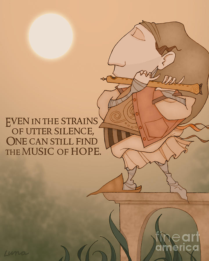 The Music Of Hope Digital Art  - The Music Of Hope Fine Art Print