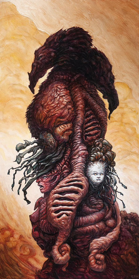 The Mutant Bloom Version 2  Painting  - The Mutant Bloom Version 2  Fine Art Print