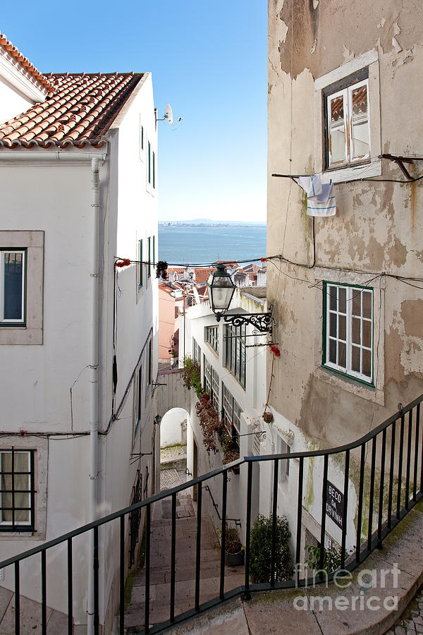 The Narrow Streets Of Alfama Photograph