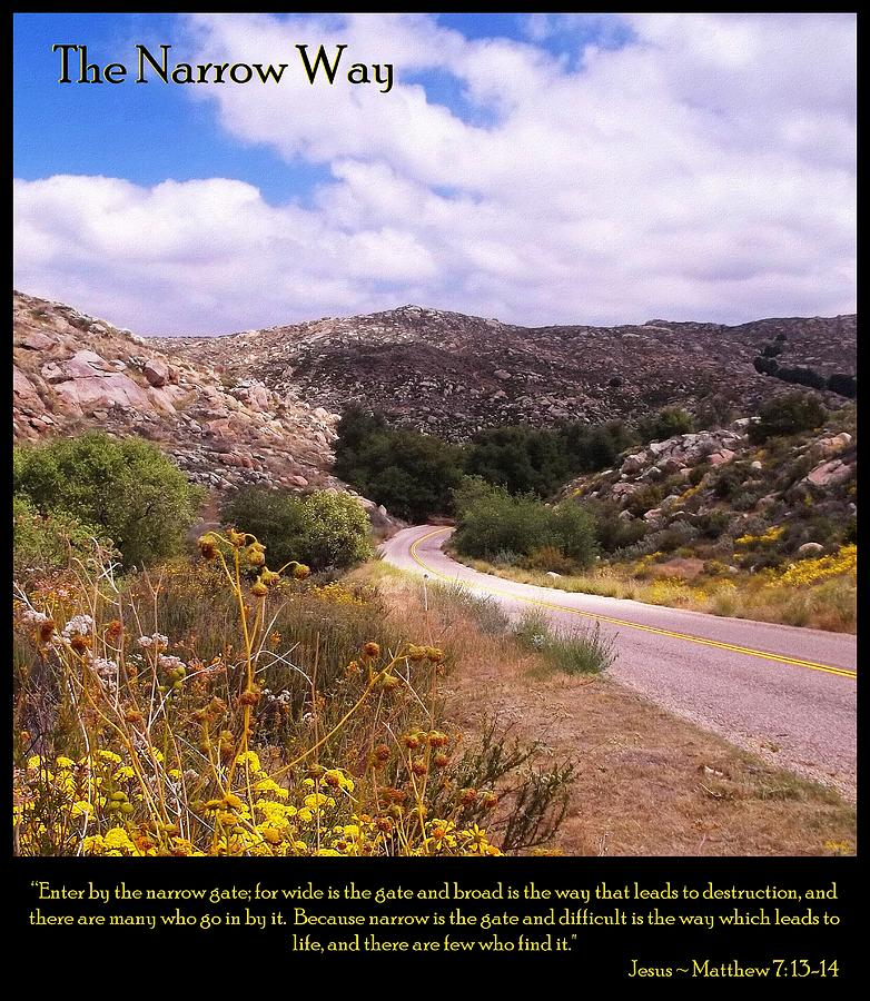 The Narrow Way Photograph  - The Narrow Way Fine Art Print